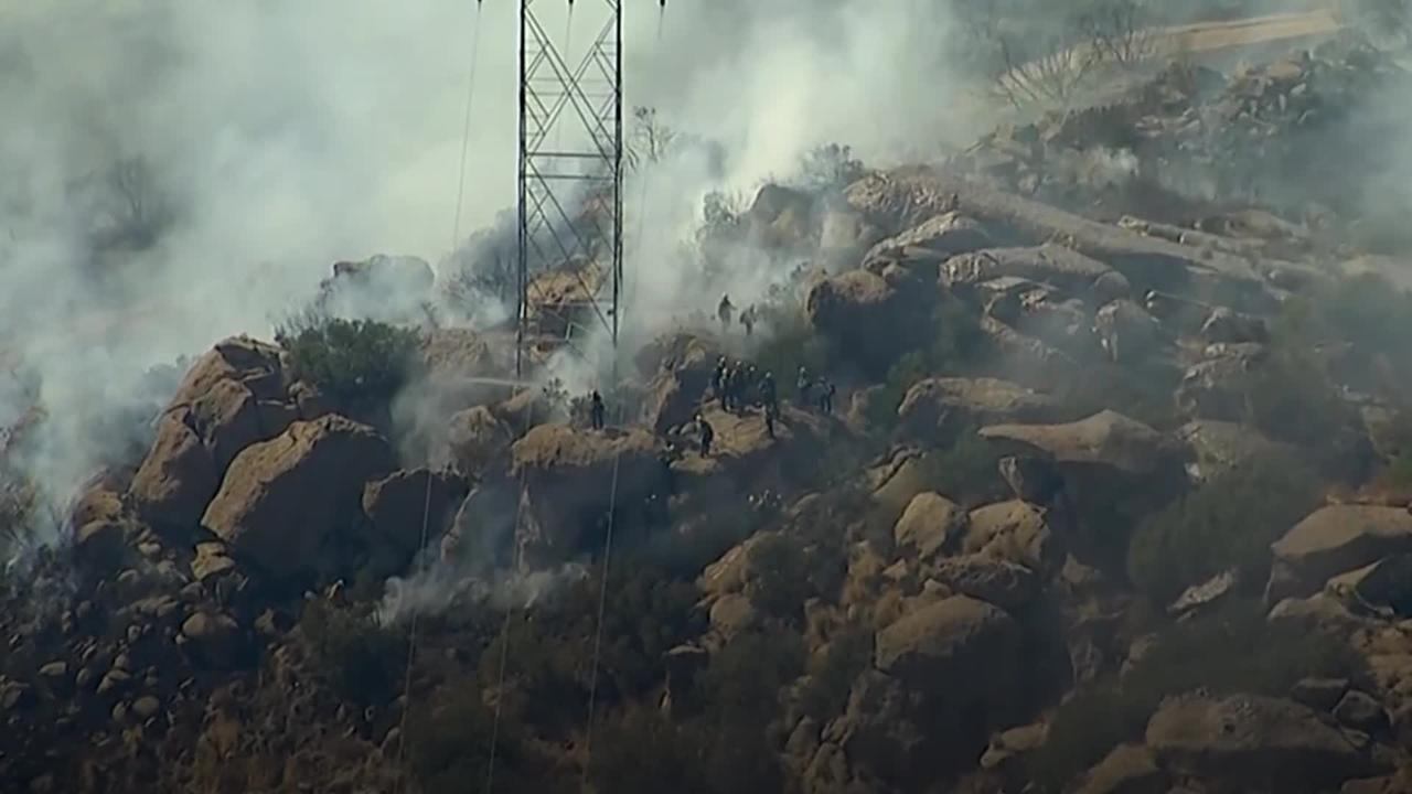 Brush fires erupt in Southern California