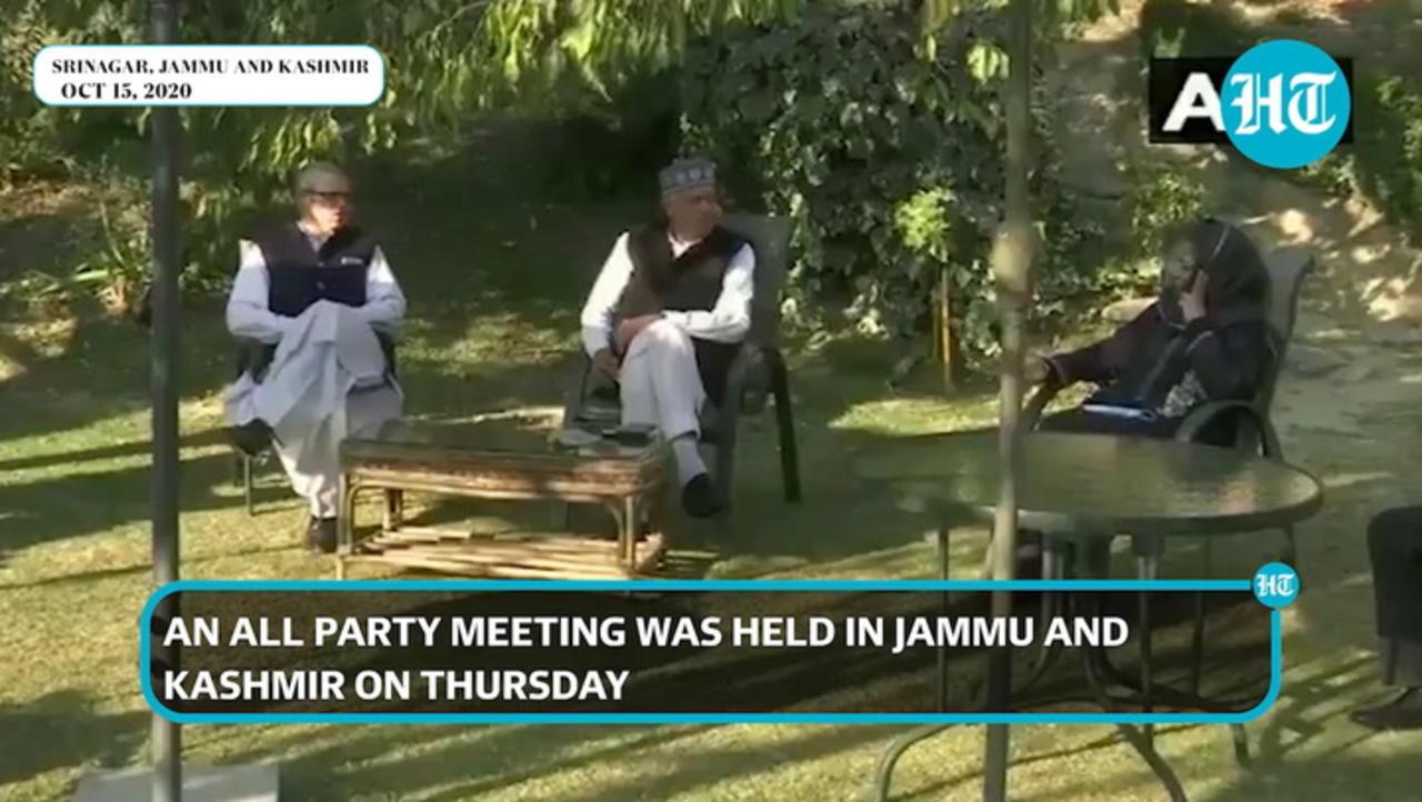 Watch: Farooq Abdullah, Omar Abdullah, Mehbooba Mufti at all-party meet in J&K