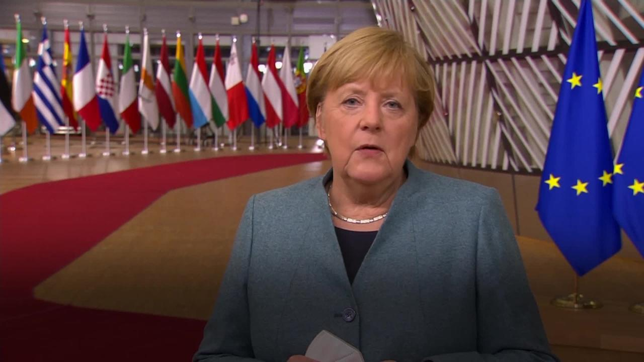 German Chancellor Angela Merkel says both sides need to compromise on Brexit