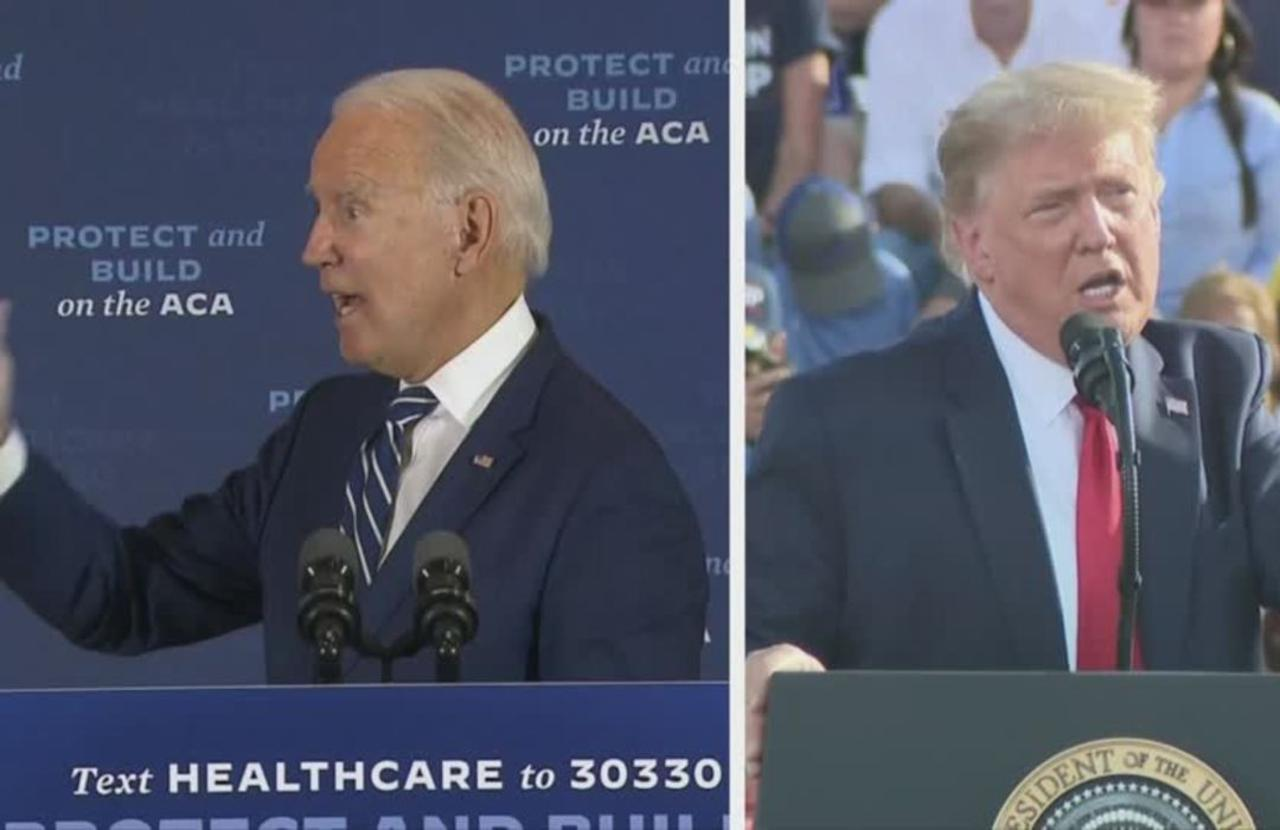 Trump barnstorms FL while Biden heads for MI