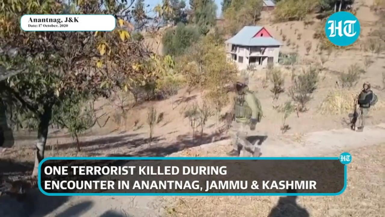 Watch: One terrorist killed during encounter in J&K's Anantnag