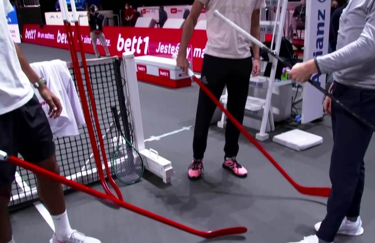 NHL MVP Draisaitl swops pucks for tennis balls