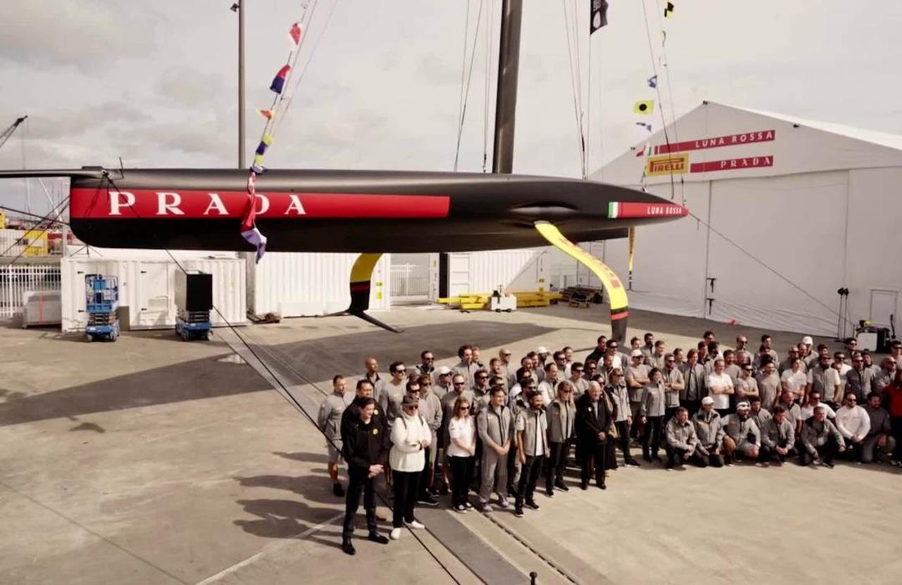 Italians launch America's Cup yacht, all teams now testing