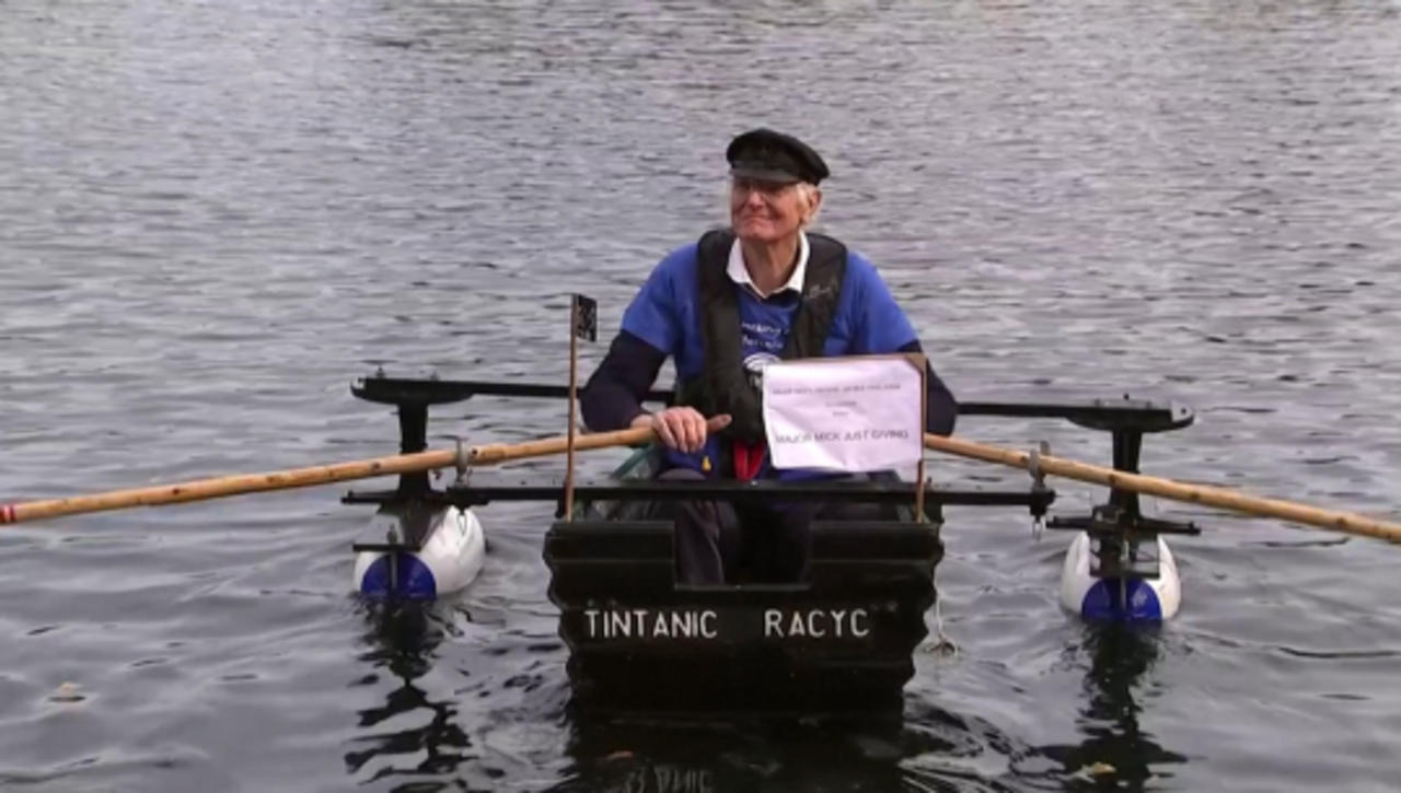 Row Row Row for Charity! Retired Army Major Rows His Tiny Boat Dubbed 'Tintanic' To Benefit a Hospice!