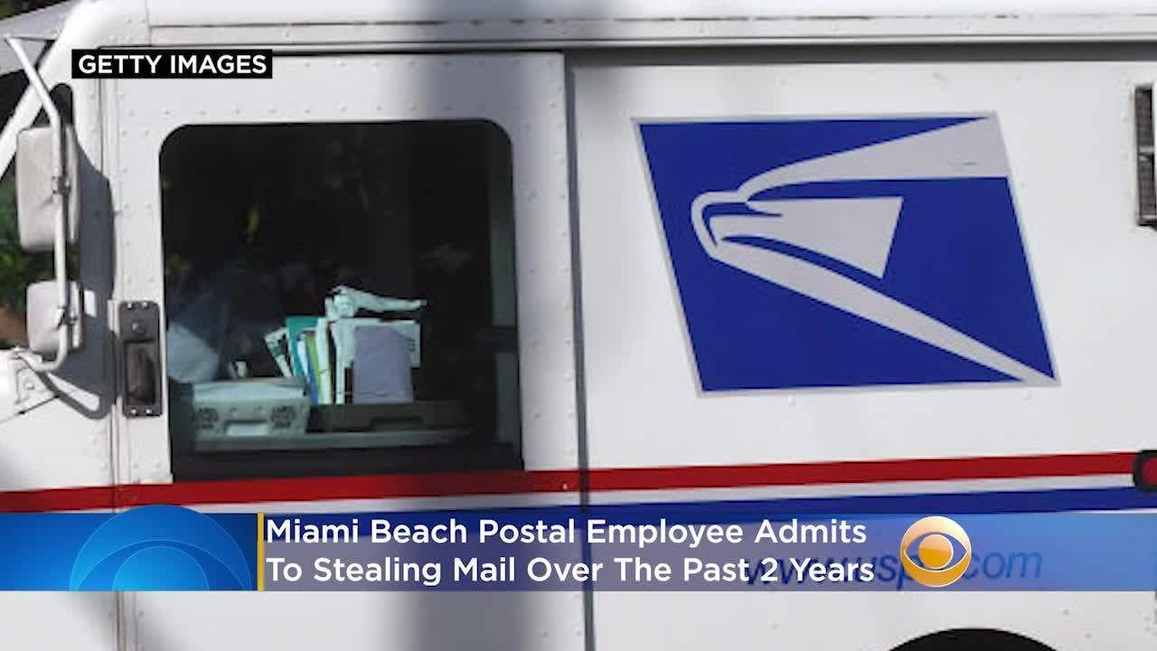 Miami Beach Postal Employee Admits To 'Stealing Mail Sporadically' For The Past 2 Years
