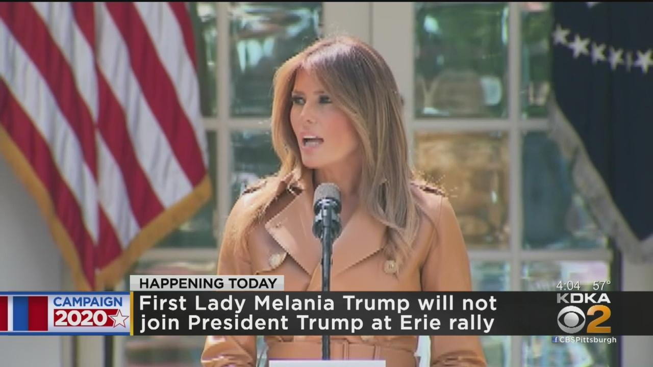 First Lady Melania Trump Cancels Campaign Visit To Erie