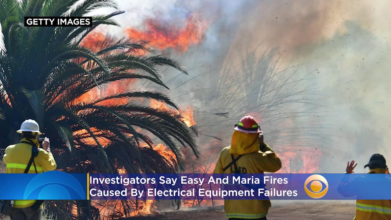 Easy And Maria Fires Caused By Electrical Equipment Failures, Investigators Find
