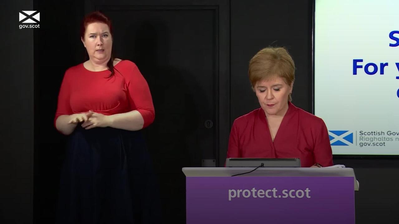 Nicola Sturgeon outlines five levels of coronavirus restrictions in Scotland