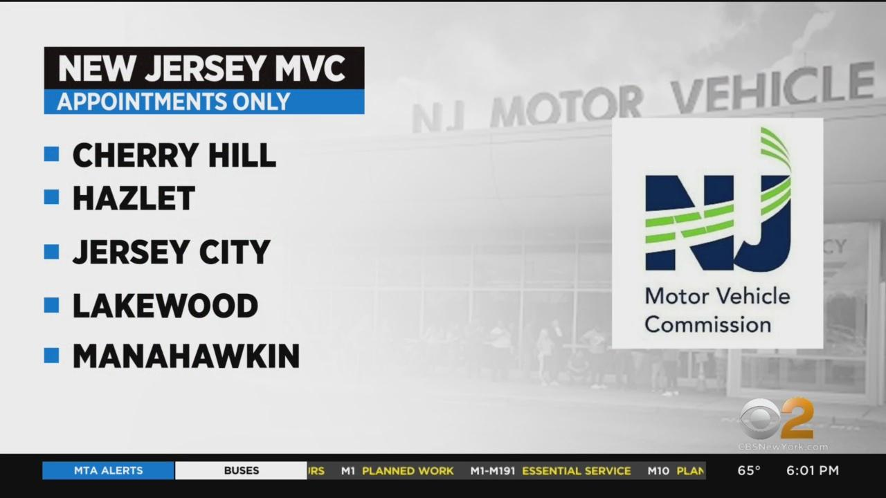 Certain NJ MVC Offices Switch To Appointment Only Services
