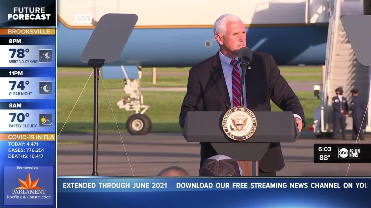 VP Mike Pence speaks in Lakeland
