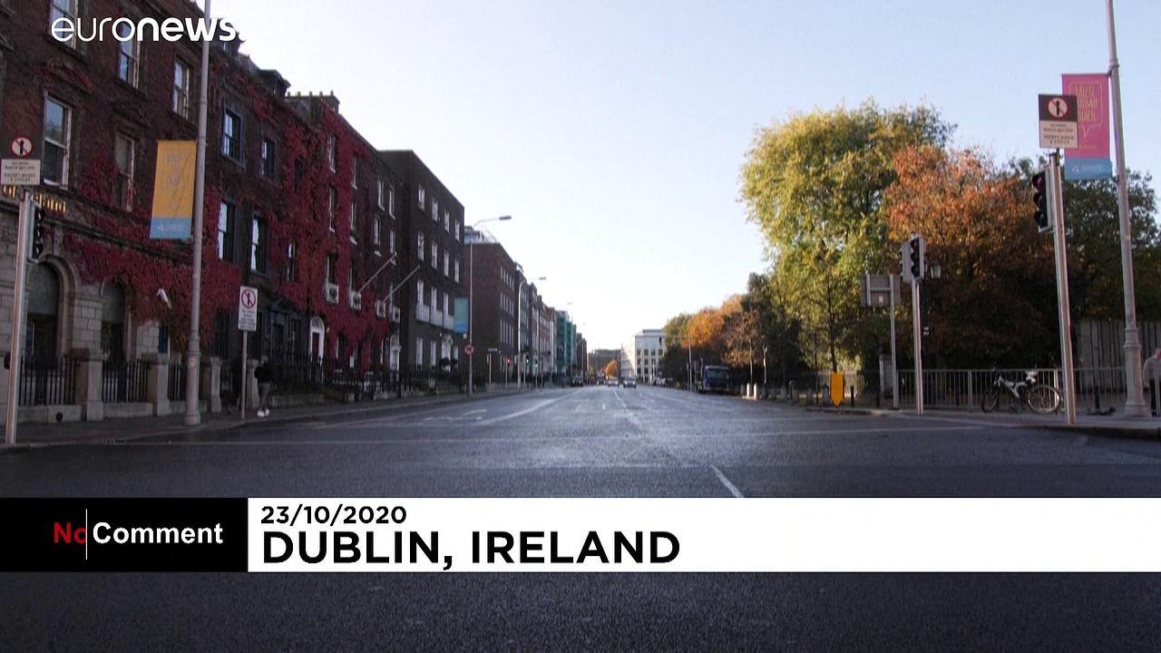 Dublin streets quiet on second day of Ireland's new virus lockdown
