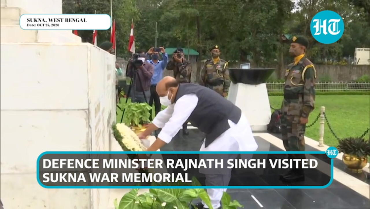 Watch: Weapon worship by Defence minister Rajnath Singh at war memorial
