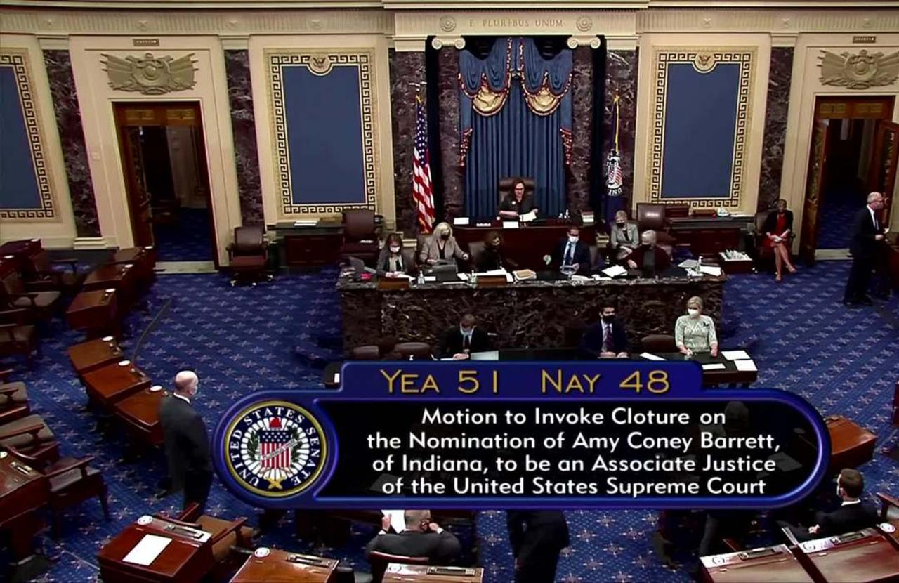 Senate one step away from Barrett confirmation