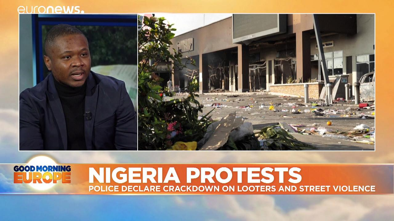 Nigeria protests: Police chief declares crackdown after violence and looting