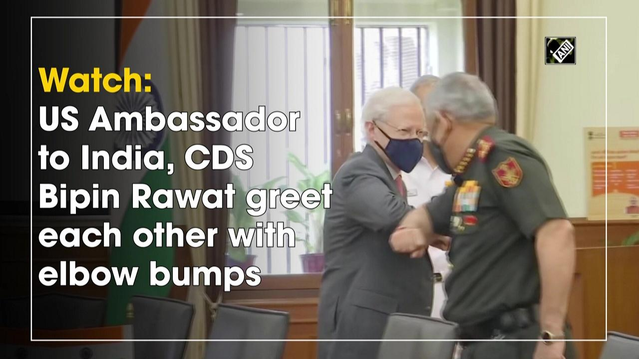 Watch: US Ambassador to India, CDS Bipin Rawat greet each other with elbow bumps