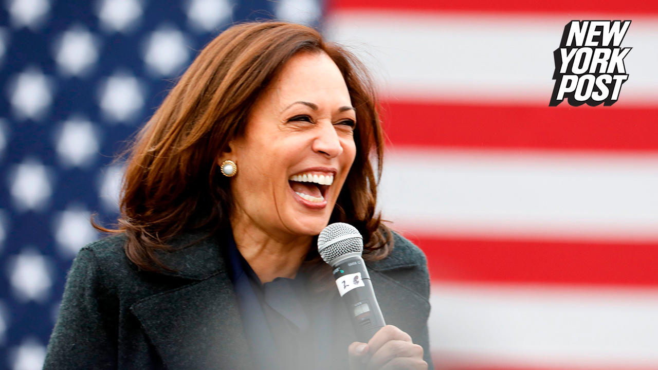 Kamala Harris laughs when asked if she'd bring 'socialist' perspective to White House
