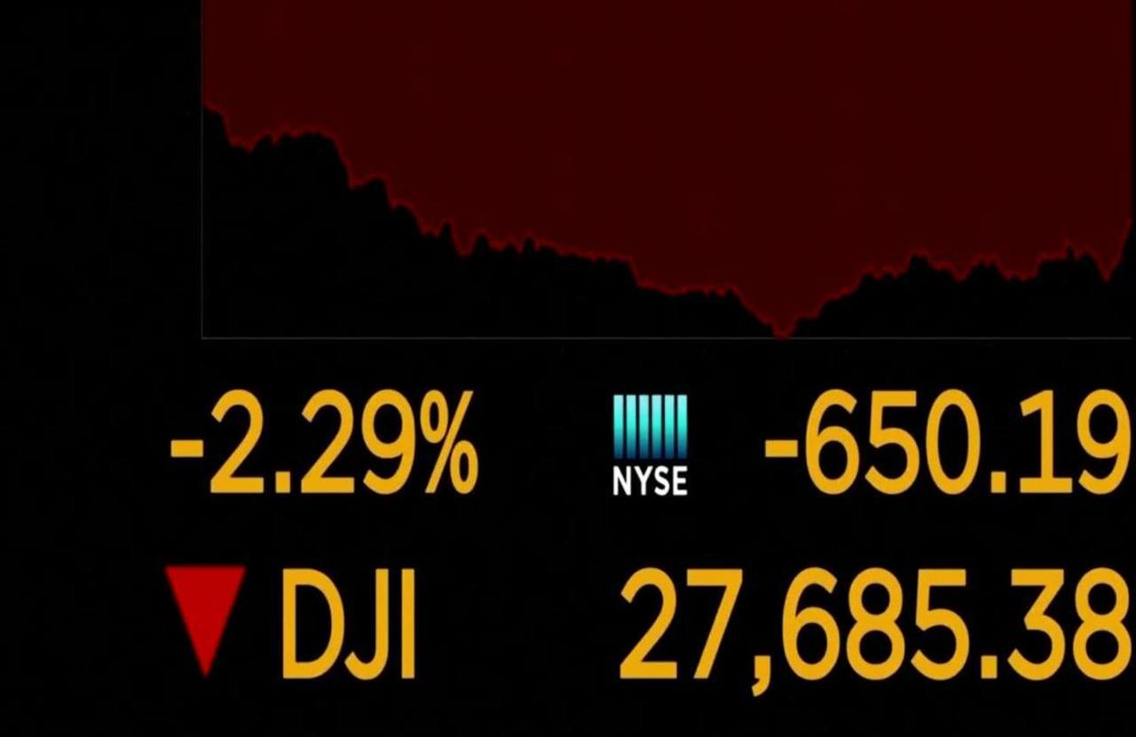 Wall Street tumbles as virus cases soar