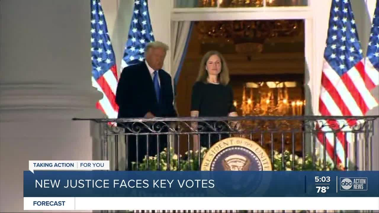 Issues important to President Trump await Amy Coney Barrett on Supreme Court