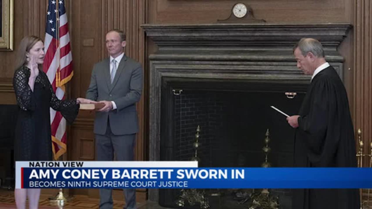 Barrett Sworn In