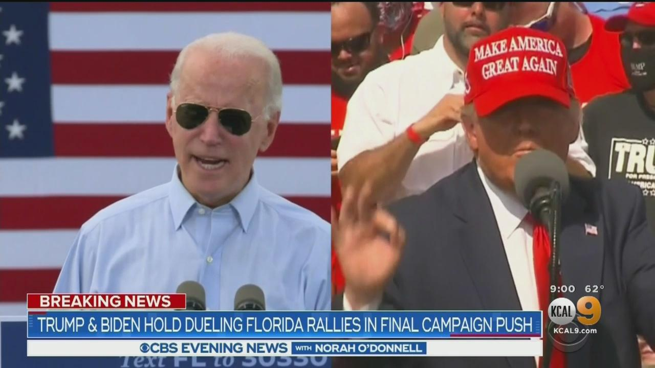'If Florida Goes Blue, It's Over,' Biden Says As He And Trump Campaign In Florida
