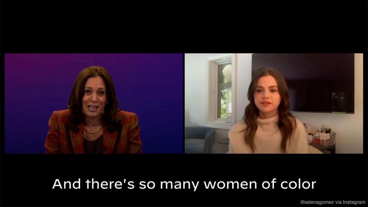 Selena Gomez talks about lupus with White House hopeful Kamala Harris
