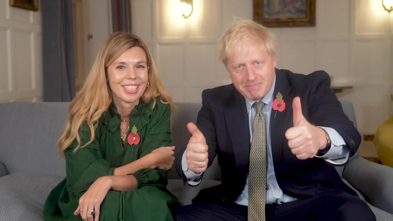 Boris Johnson and Carrie Symonds give joint Pride Of Britain message