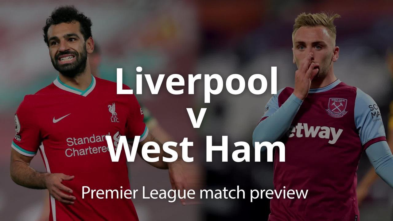 Premier League match preview: Liverpool v West Ham