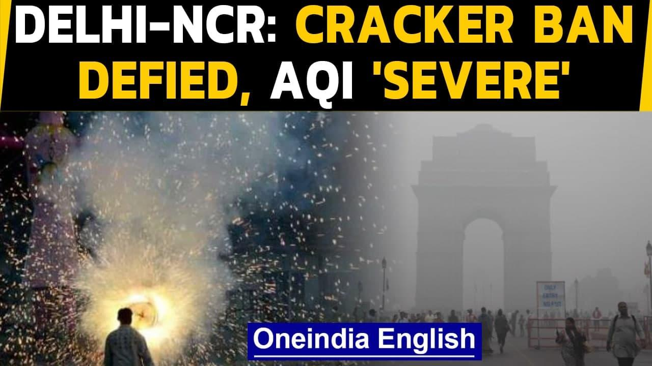 Delhi-NCR: Air pollution soars as ban on firecrackers defied, AQI  plunges to 'severe' Oneindia News