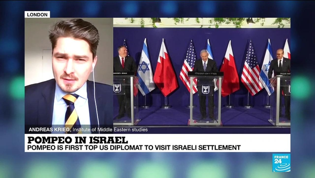 Pompeo is first top US diplomat to visit Israeli settlement