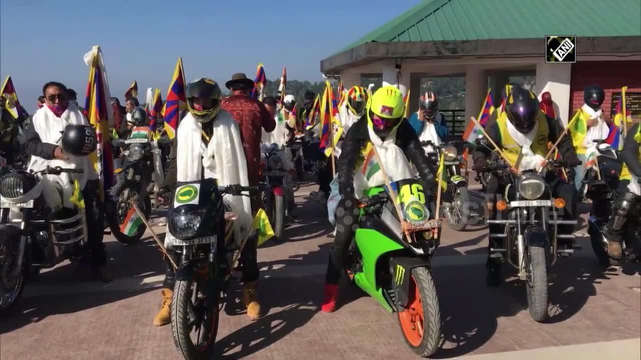 Group advocating Tibetan independence organises anti-China bike rally in India