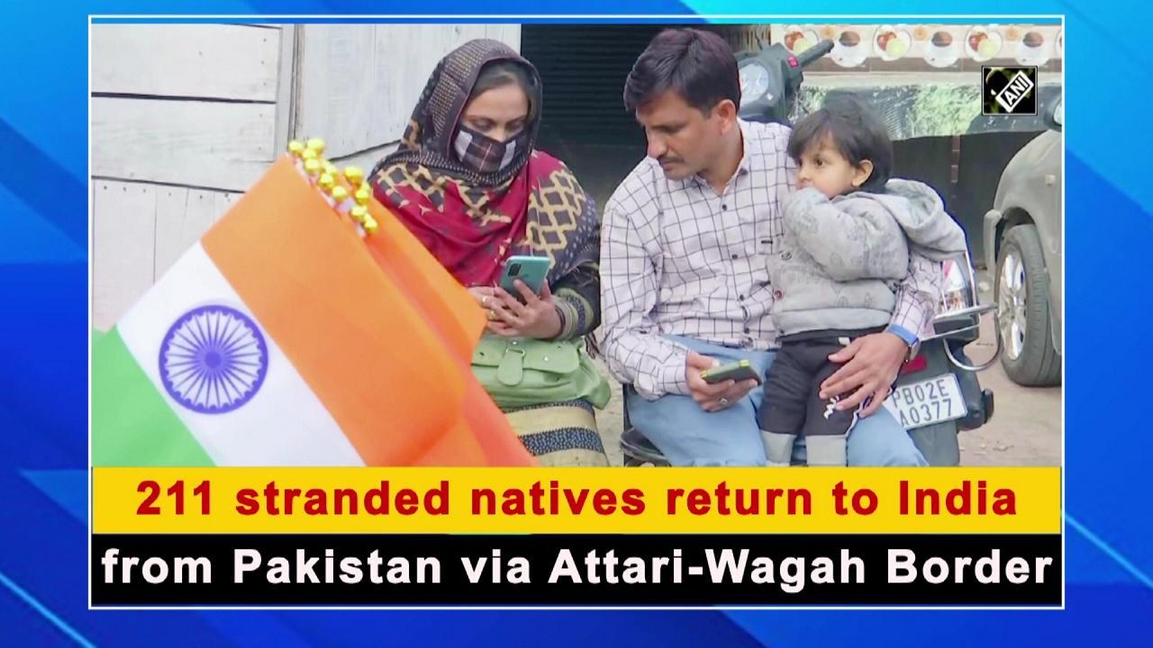 211 stranded natives return to India from Pakistan via Attari-Wagah Border