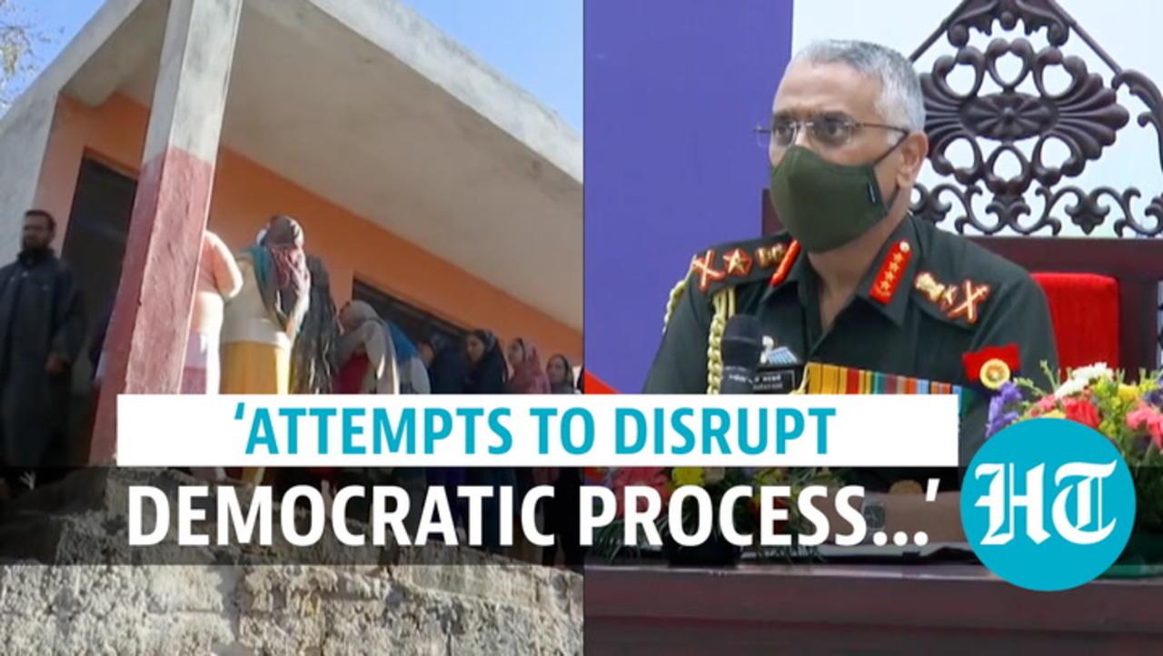'Terrorists desperate to disrupt J&K's democratic process': Army chief
