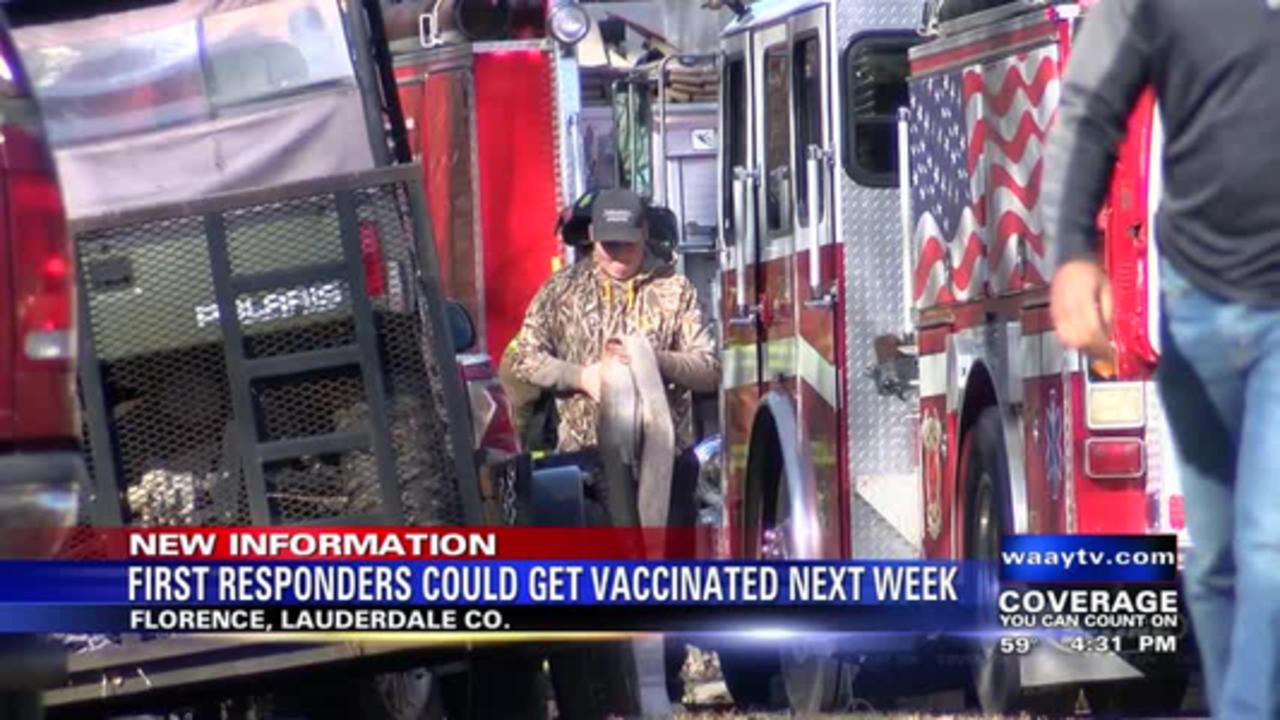 North Alabama first responders could get coronavirus vaccine next week