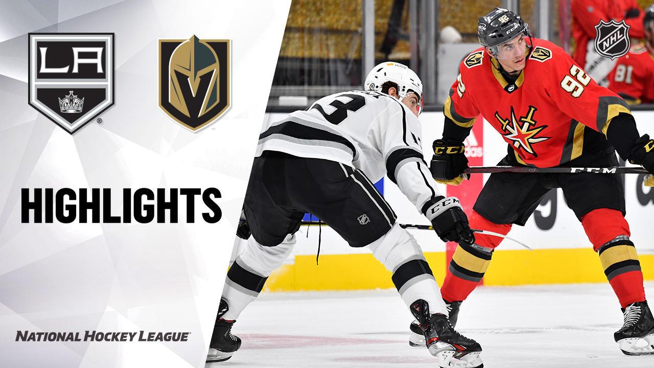 Kings @ Golden Knights 3/31/21   NHL Highlights