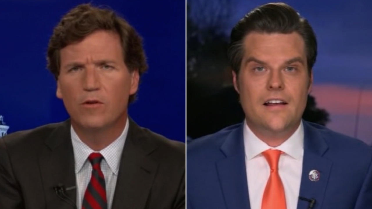 Tucker Carlson's interview with Gaetz gets uncomfortable