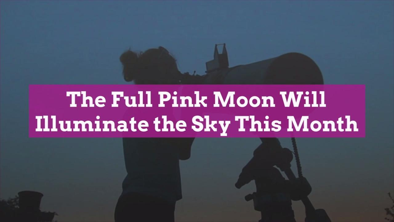 The Full Pink Moon Will Illuminate the Sky This Month