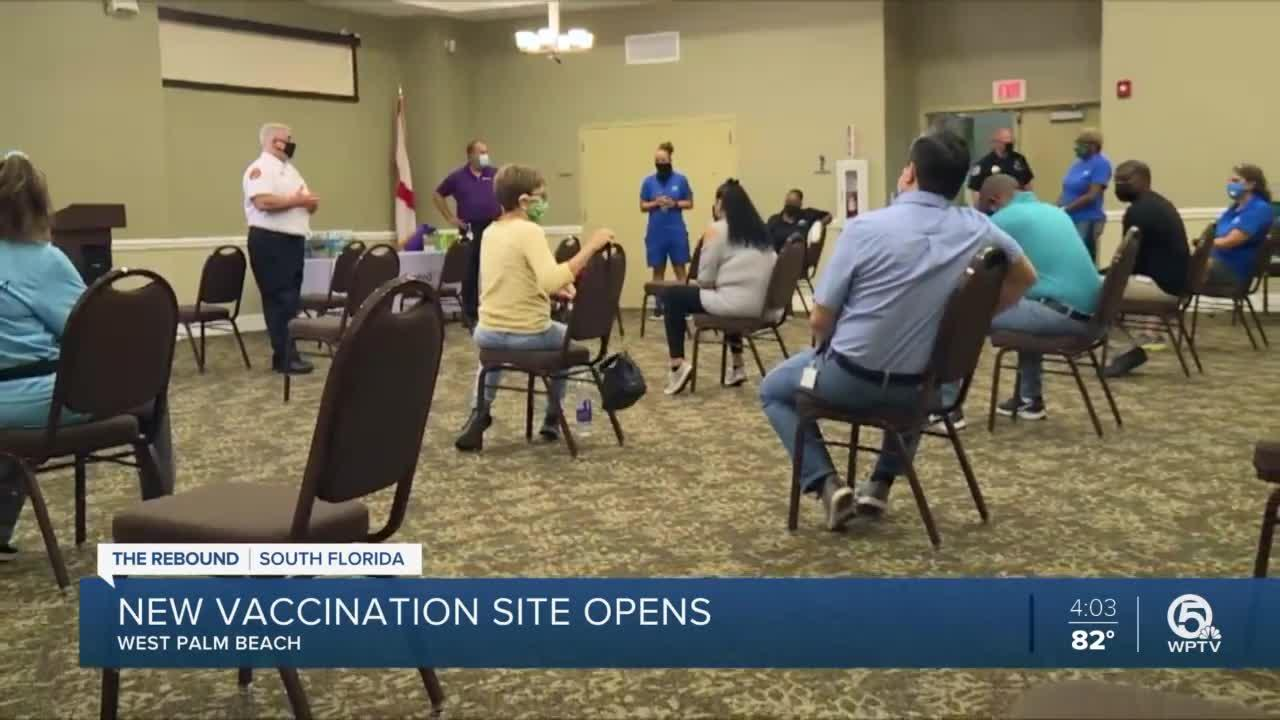 West Palm Beach opens COVID-19 vaccination site