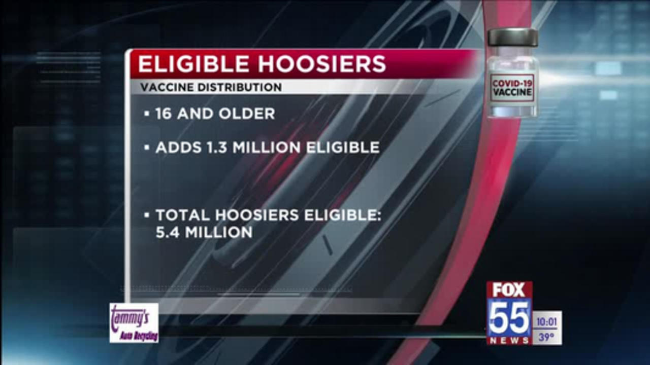 Hoosiers age 16 and older now eligible for COVID-19 vaccine
