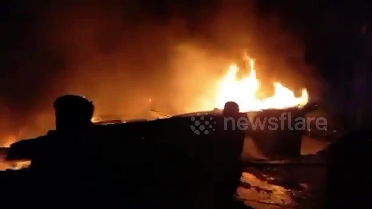Three dead in fire at Kutupalong market in Cox's Bazar, Bangladesh