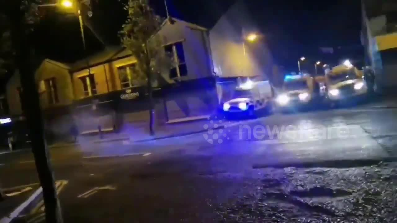 Loyalist youth demonstration turns violent in Belfast, Northern Ireland