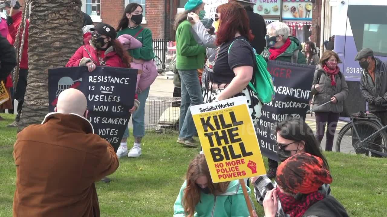 'Kill the Bill' protest kicks off in Weymouth, Dorset amid national day of action