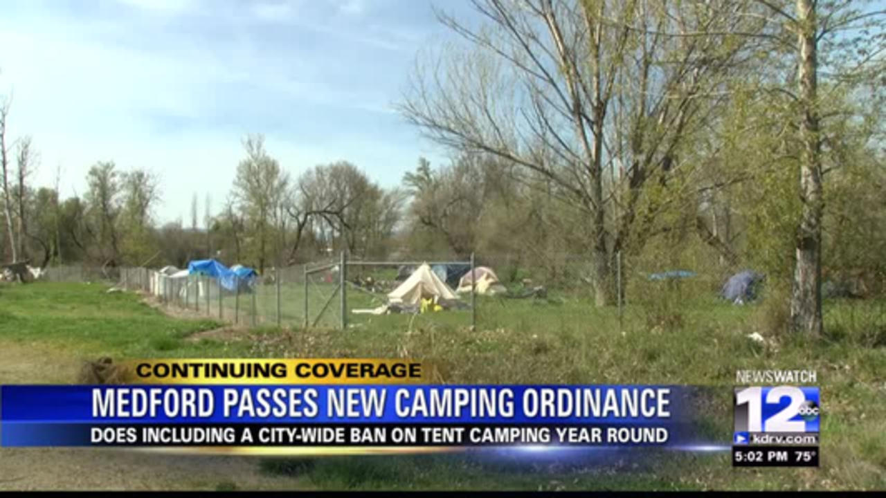Medford city council approves new prohibited camping ordinance