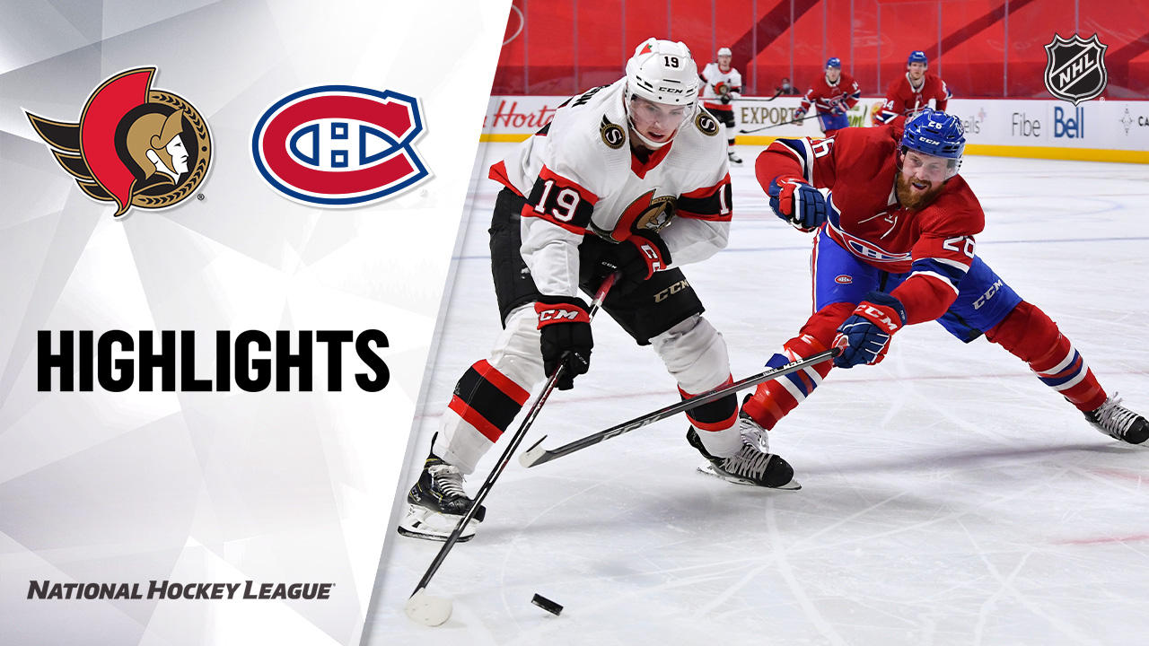 Senators @ Canadiens 4/3/21   NHL Highlights