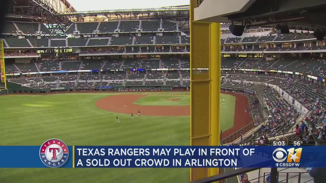 Texas Rangers Prepare For Possible Record-Breaking Home Opener