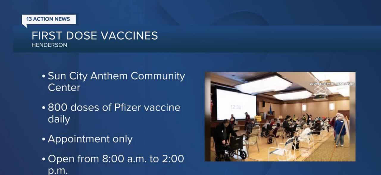 Additional vaccine sites opening in Southern Nevada