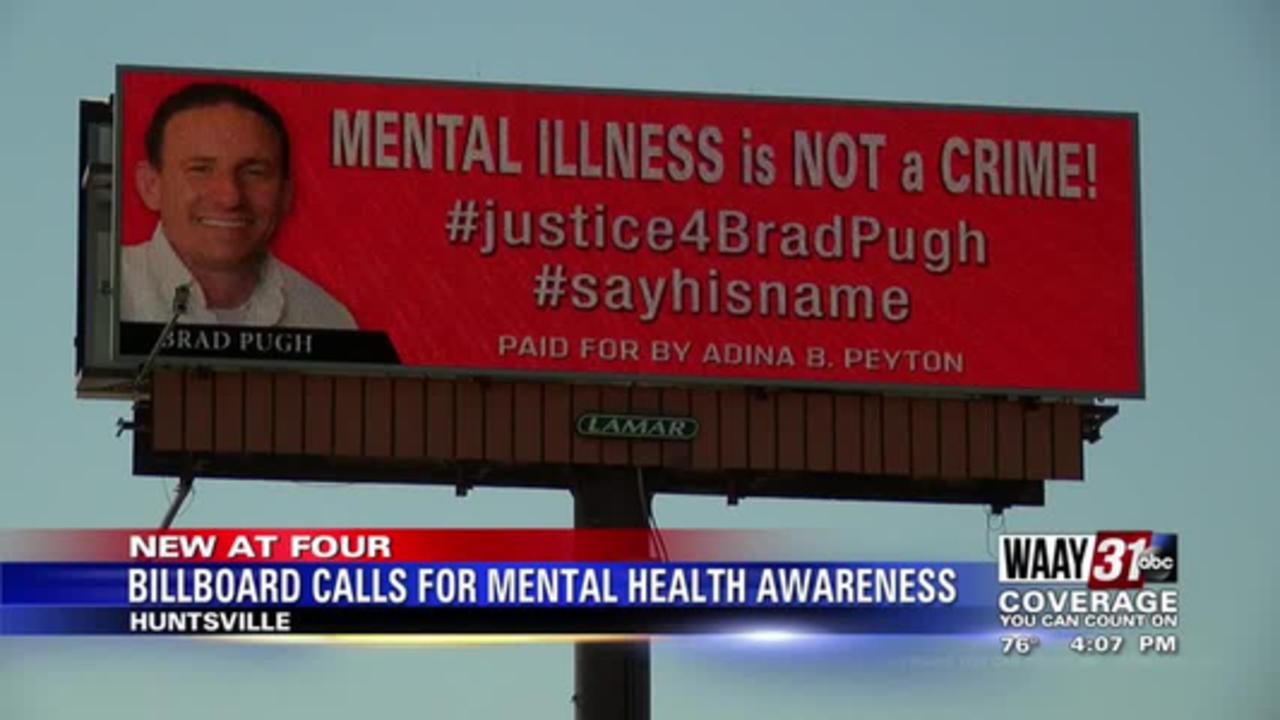 Billboard in Huntsville calls for mental health awareness