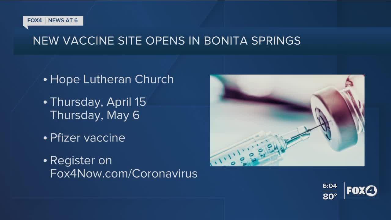 New vaccine site opens in Bonita Springs