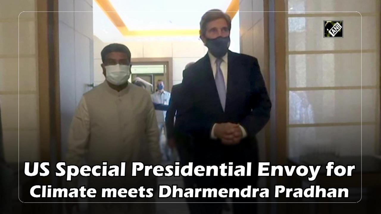 US Special Presidential Envoy for Climate meets Dharmendra Pradhan