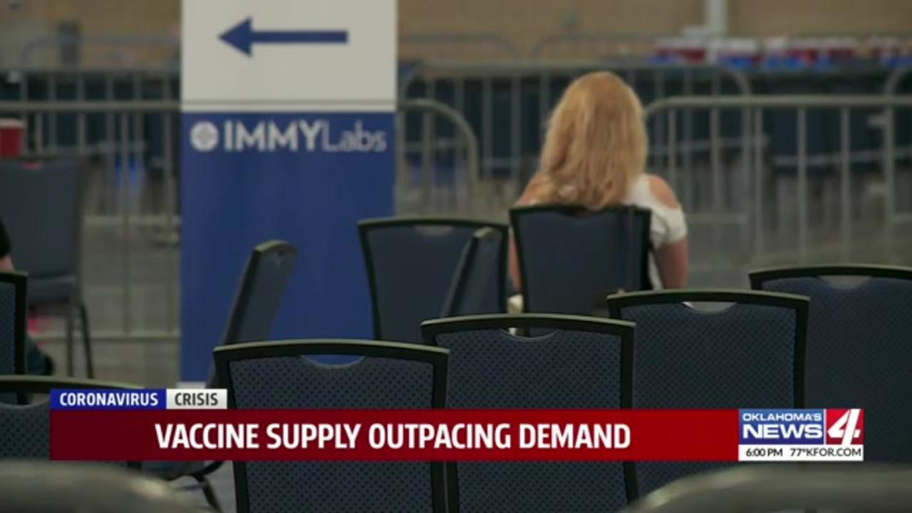 Tens of thousands of open appointments lead to concern COVID-19 vaccine enthusiasm is waning in Oklahoma