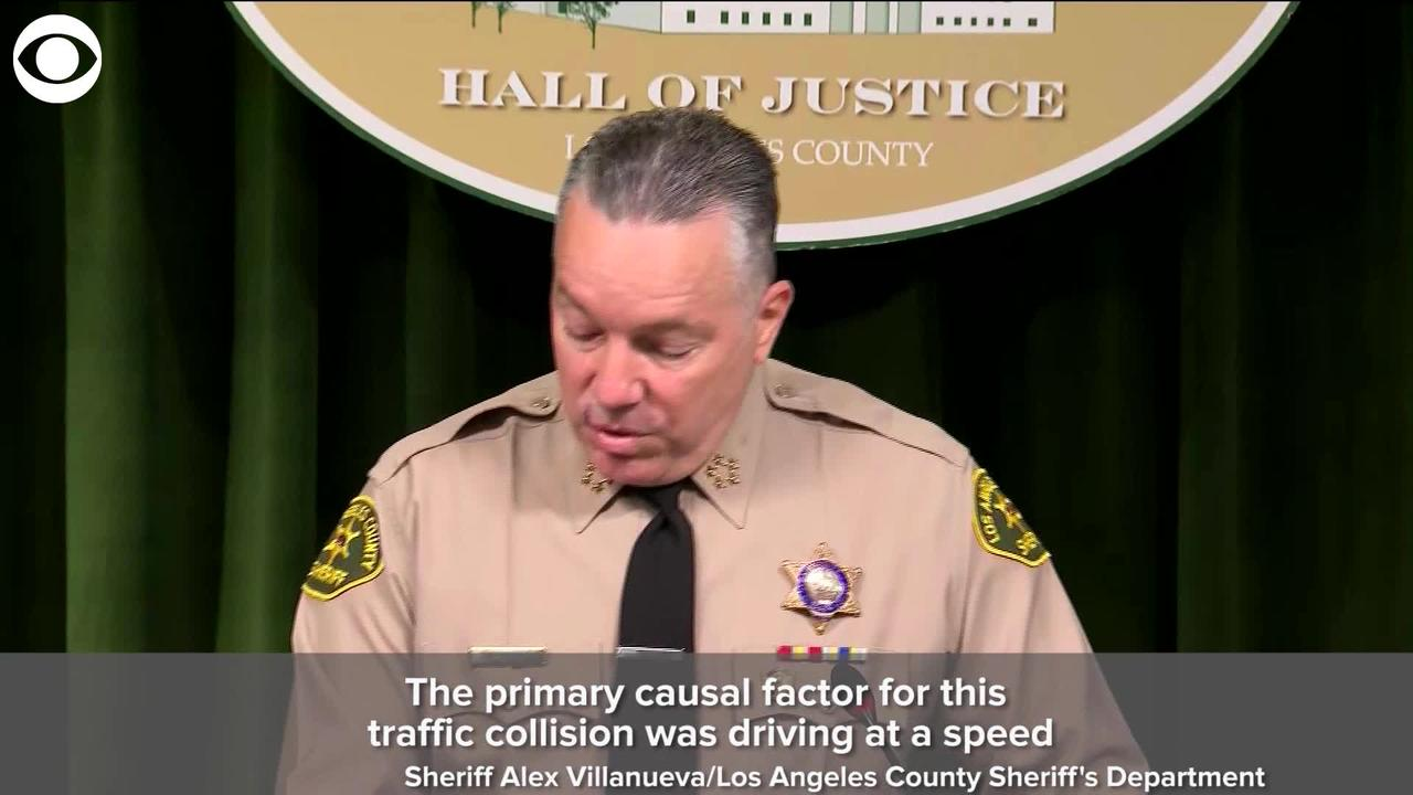 WEB EXTRA: LA County Sheriff Says 'Driving At A Speed Unsafe For The Road Conditions' Caused Tiger Woods Crash